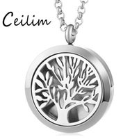 316l stainless steel perfume aroma locket 30mm necklace magn...