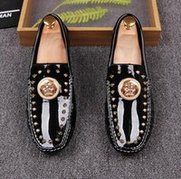 New Style Fashion Designer Brand Spikes Roller- Boat Loafers ...