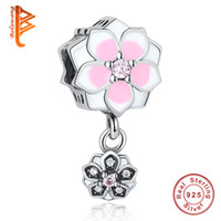 BELAWANG Authentic 925 Sterling Silver Magnolia Bloom Flower...