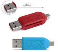 Hot Net 2 in 1 Lettore di schede USB OTG Micro USB OTG Lettore di schede TF / SD Prolunga per telefono Adattatore per unità flash per computer Smartphone