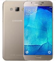 تم تجديده الأصلي Samsung Galaxy A8 A8000 الهاتف الخليوي مقفلة Octa Core ROM 16GB / 32GB 16.0MP 5.7 بوصة المزدوج SIM 4G LTE