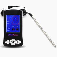 Alta calidad Horse Eye 150mm Metal pene uretral Plug con la última máquina de descarga eléctrica uretral dilatador temática médica juguete sexual I9-157
