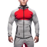 All'ingrosso - Men's Sportswear 2017 Uomo Running Jacket Primavera / Estate Uomo Outdoor multifunzionale Taglia: M-2XL Spedizione gratuita