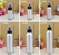 Bouteilles de pulvérisation en aluminium en métal vides Conteneurs de parfum Bouteille d'huile essentielle de récipient en métal avec la pompe en aluminium de pulvérisateur de brume