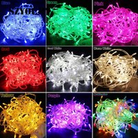 10m 20m 30m 100leds 200leds 300leds led String Lights decoración de la fiesta de navidad Fairy Light 110V 220V con conector macho hembra