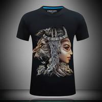 Personalidade camisetas engraçadas para homens 3d camisetas leão impresso verão casual t shirt banda de rock t camisas mens roupas de grife de moda