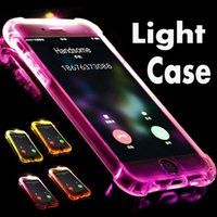 Chamada relâmpago flash led light up capa case macio tpu à prova de choque case para iphone xs max xr x 8 7 6 plus 5 samsung galaxy s10 e s9 s8 nota 9