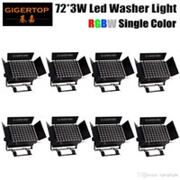 Freeshipping 8 Unità LED Wall Washer 72x3W RGBW Wash Wall LED Lampada LED Flood Light IP20 Staining Light Bar Flood Barn Door Light 4IN1