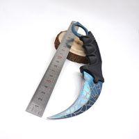 Counter-Strike Örümcek Tahıl Pençe Karambit Bıçak CS GITMEK Paslanmaz Çelik Traning Survival Bıçaklar Kurtarma Kamp Araçları Sabit Bıçak Bıçaklar Mavi