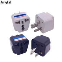 Plug адаптер Amvykal верхнего качества LX-5 CE ROHS питания переменного тока зарядное устройство Преобразователь электрической розетки Универсальный Великобритании AU EU Для штепсель США