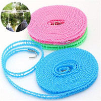 8M Clothes Hangers Nylon Rope Washing Clothesline Portable O...