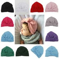 10 Renkler Çocuklar Benies Yenidoğan Fotoğraf Dikmeler Bebekler Kız Erkek Şapka Düğümlü Bohemya Bebek Pamuk Sonbahar İlkbahar Şapka A6894 Caps