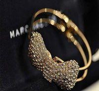 Cristal De Luxe Bowknot Manchette Bracelet Or Argent Plaqué Bracelets Femmes Filles Parti Bijoux Strass Bracelet De Mariée Bracelets De Mariage