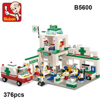 SLUBAN Building Blocks B5600 New city scene Hospitals emerge...