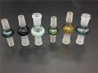 Adaptador de bong de vidrio colorido 14.4mm18.8 macho a hembra conjunta 14mm 18mm hembra a macho convertidor adaptador de vidrio conjunta para bong de vidrio