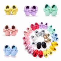 الأخفاف الطفل أطفال بنات حزب الأميرة عارضة الأحذية بو الشقق الناعمة القوس 14 ألوان طفلة أحذية مشوا الأولى