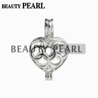 5 Pieces Locket Gift Cage 925 Sterling Silver Love Wish Pear...