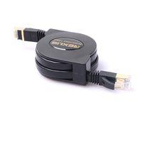Geri çekilebilir 1.5M CAT7 RJ45 Patch Ethernet LAN Kablosu Ağ Kablosu