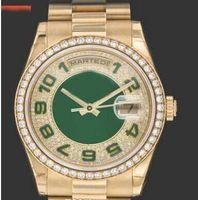 shippng gratuit gros nouvelle arrifve montre de luxe Mens anniversaire anniversaire lunette de montre hommes montres en or président 118348 robe hommes Wristwatc