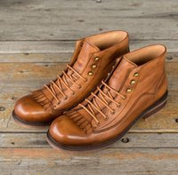 New Men Genuine Leather Oxfords Ying Lun Madden boots Big he...