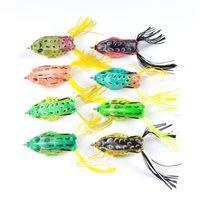 8 colores de simulación Ray Frog señuelo artificial para la pesca de agua dulce 13.5 g 6 cm Topwater Soft Bass cebos de pesca
