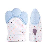 10 PCS Silicone Bebê Mitts Dentição Luva Mitten Dentição Chewable Newborn Enfermagem Mordedor BPA Infantil BPA Livre Teethers Som Presente de Natal