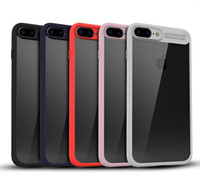 Hybrid 2 in 1 Soft TPU Bumper with Transparent Clear Back Co...
