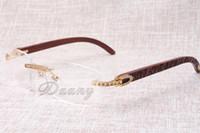 Новые бескаркасные квадратные рамки, T3524012 белые линзы, натуральные деревянные полосы, зеркальные ножки, рамы для мужчин и женщин, eyeglassessize: 56-18-140m