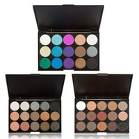 Wholesale- 15 Colors Eye Shadow  Shimmer Matte Eyeshadow Palette Set Eye Shadow Make Up paleta de sombra Free Shipping