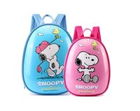 Snoopy Cute Egg- Shell- shaped Bacpack for Kindergarten Kids S...