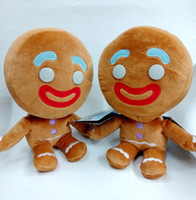 "Hot Sale 3pcs Lot 9"" 23cm Gingerbread Man SHREK 4 plush..."
