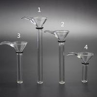 4 크기 유리 줄기 슬라이더 깔때기 유형, 물 파이프, 유리 봉 기름 유정을위한 간단한 downstem 유리 그릇 500 PC DHL 무료