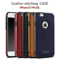 New Business Leather Pattern Stitching Phone Case for iphone...