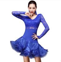 Freies Verschiffen 5 Farbe Erwachsene / Mädchen Latin Dance Kleid Salsa Tango Cha cha Ballsaal Wettbewerb Kleid Hohe Qualität Spitze Nähte Blumenkleid