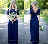 2018 Country Bridesmaid Dresses Long For Weddings Navy Blue ...