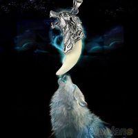 Großhandels-lange Halskette Trendy Brave Man Wolf Zahn Halskette Titan Stahl herrschsüchtig Anhänger Männer Schmuck 01TV