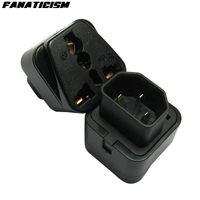 Fanaticism Universal-UK EU US Elektrische Stecker-Adapter-Buchse, um Pro IEC 320 PDU UPS C14-Stecker-Adapter-Konverter