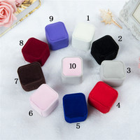 Fashion Jewelry Gift Boxes packaging 10 colors Square Shape ...