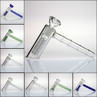 Nouveau marteau de verre 6 percolateur en verre perc Arm matrice de tuyau d'eau de barbotage fumer tuyaux pipe bong bong pomme de douche perc deux fonctions