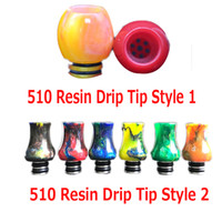 Anti Spitting Drip Tip pour 510 Thread Atomizers and Tanks Joyetech Ego Aio Istick Pico Drip Tips Divers Couleurs Anti Spit Tips