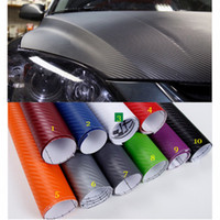 30 * 152 CM / pcs 3D fiber de carbone vinyle voiture film de protection de voiture-style pour porte rétroviseur intérieur autocollants protecteurs