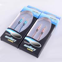 DHL gratuit 3.5mm coloré tissage en nylon Aux audio auxiliaire Câble Jack mâle à fiche mâle stéréo Cordon fil pour smartphoe téléphone intelligent