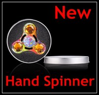 2017 New Hand Spinner Toy Fidget Spinner metal diamond camou...