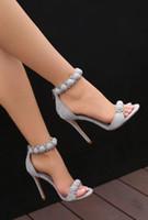 Big Size 35-44 Solid Color Balls Decor Gorgeous 10 cm Hoge hakken Sandalen Big Size Hakken Vrouw Klinknagels Studded Enkle Wrap Sandals