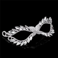 Mask European And American Rhinestone Alloying Imperial Crow...