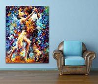 뜨거운 커플 댄스 팔레트, 칼 handpainted 추상 초상화 벽 아트 장식 유화 캔버스, 멀티 크기 AB171