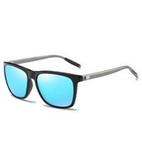 Top Quality Fashion Unisex Retro Aluminum Classic Men Driving Sunglasses Polarized Lens Brand Designer Vintage Sun Glasses For Pilo Qccdu