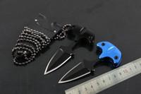 Мини-тактический Холодное шеи нож фиксированным лезвием Открытый Отдых нож выживания Самозащита Портативный брелок FACA EDC-7.3cm Общая