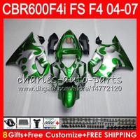 8Gifts 23Colors pour HONDA CBR600FS FS CBR600F4i 04 05 06 07 AAHM24 CBR600 F4i CBR 600F4i CBR 600 F4i 2004 2005 2006 2007 Carénage