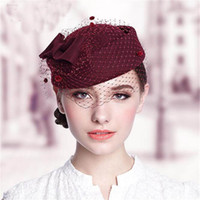 2017 Najnowsze kapelusze ślubne damy ciepłe wełna eleganckie zachodnie zachodnia kobieta kapelusz dla bankiet wieczór wesele